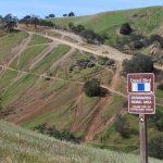 Illegal OHV activity on East Bay hillside.